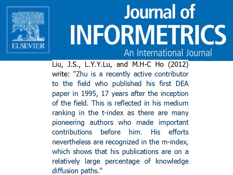 Source: Liu, J.S., L.Y.Y. Lu, and M.H-C Ho, 'Total influence and mainstream measures 