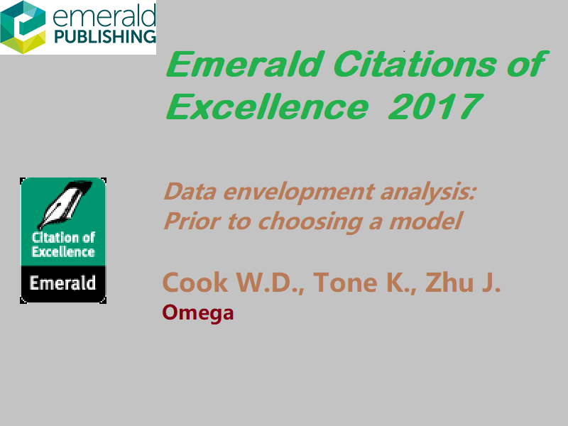 Cook W.D., Tone K., Zhu J, Data envelopment analysis: Prior to choosing a model,